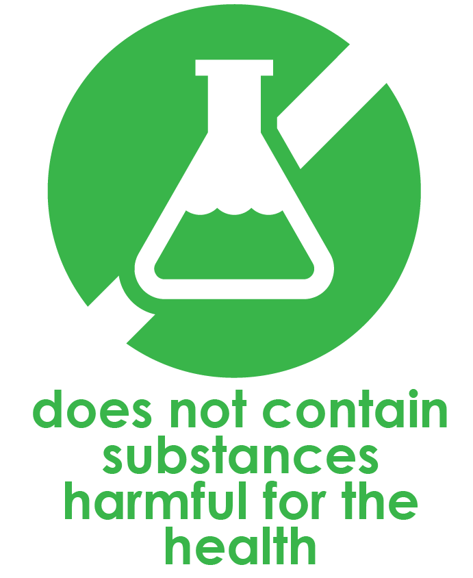 does not contain substances harmful for the health