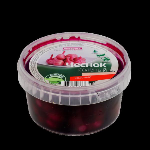 Pickled Red Garlic