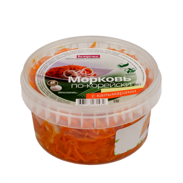 Korean Style Carrot with Calamari